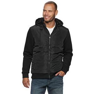 Men's Apt. 9 Mix Media Sherpa Lined Hooded Jacket