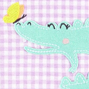 Toddler Girl Carter's Gingham Alligator Romper Pajamas