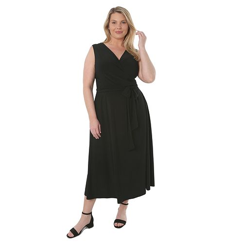 Plus Size Hudson & Harper Sleeveless Wrap Dress