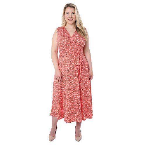 Plus Size Hudson & Harper Sleeveless Wrap Dress