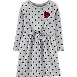 Girls 4-12 Carter's Sequin Ladybug Polka-Dot Dress
