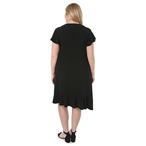 Plus Size Hudson & Harper Asymmetrical Hem Dress