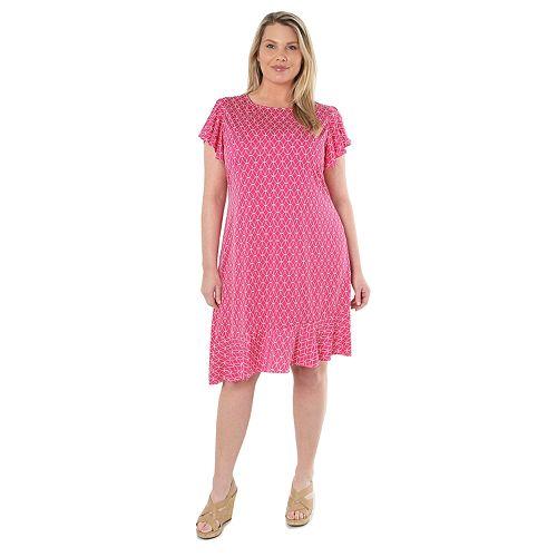 Plus Size Hudson & Harper Asymmetrical Hem Dress