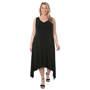 Plus Size Hudson & Harper Sleeveless Sharkbite Dress