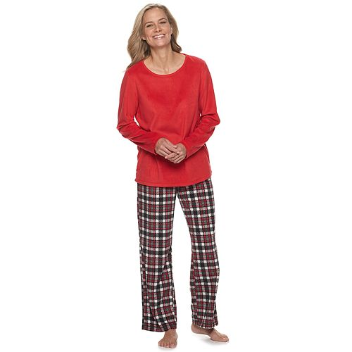 Women's Croft & Barrow® Microfleece Pajama Set