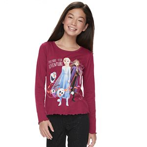 Disney's Frozen 2 Girls 7-16 Lettuce Edge Graphic Tee