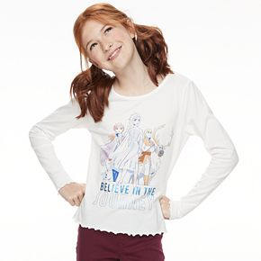 Disney's Frozen 2 Girls 7-16 Lettuce Edge Graphic Tee