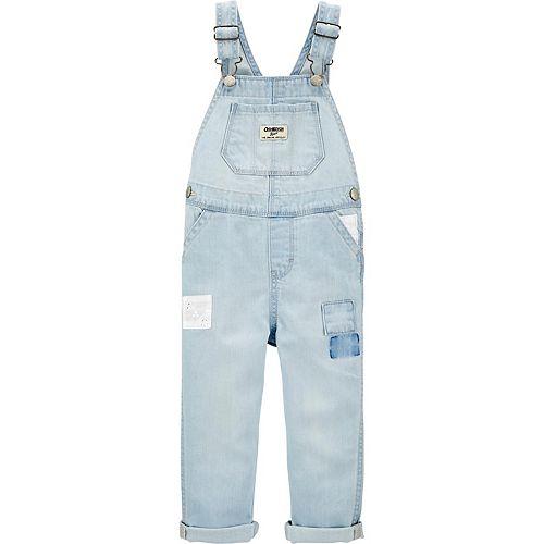Toddler OshKosh BGosh Little Girls Hickory Overalls - Denim 6 Months