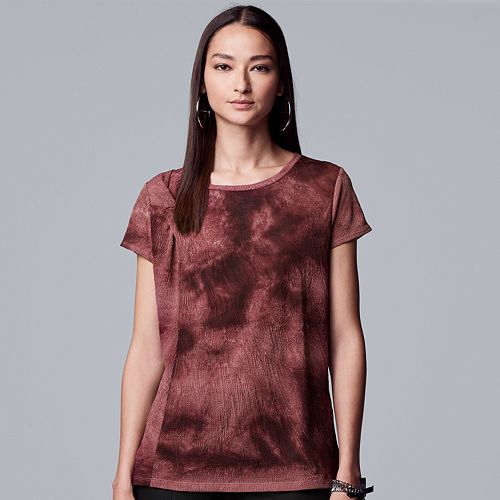 Petite Simply Vera Vera Wang Twisted Tee