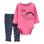Baby Girl Carter's Dinosaur Bodysuit & Pants Set