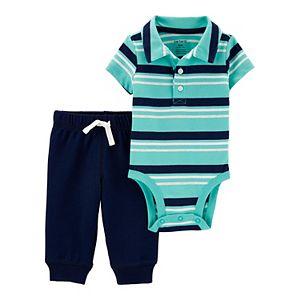 Baby Boy Carter's 2-Piece Polo Bodysuit Pants Set