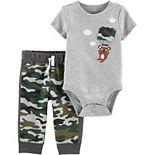 Baby Boy Carter's Camo Koala Bodysuit & Pants Set