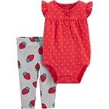 Baby Girl Carter's Strawberry Bodysuit & Pants Set