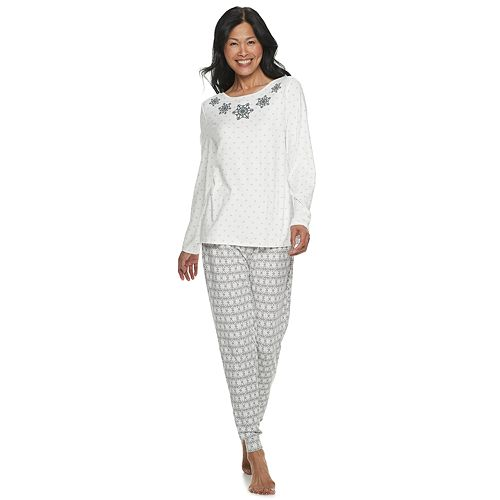 Women's Croft & Barrow® Printed Pajama Tee & Pajama Pants Set
