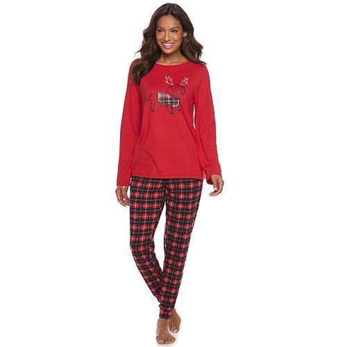 Women's Croft & Barrow® Printed Pajama Tee & Pajama Pants Set