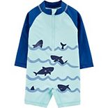 Baby Boy Carter's Sharks Rash Guard Swimsuit
