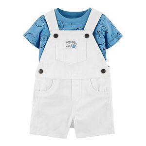 Baby Boy Carter's 2 Piece Sloth Tee & Shortalls Set