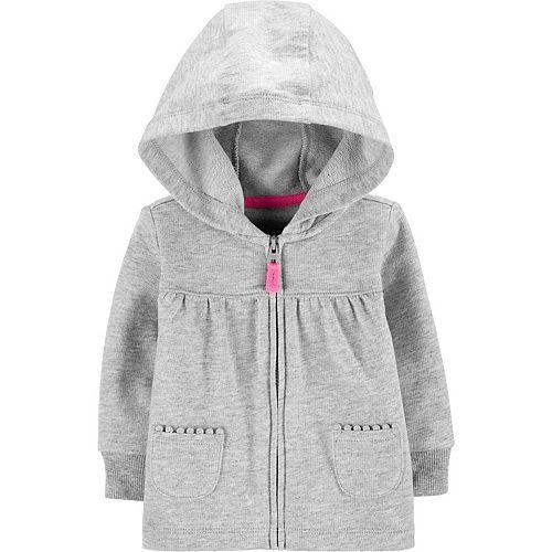 18 Months, Navy Carters Baby Girls Fleece Zip-Up Hoodie