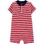 Baby Boy Carter's Striped Slub Romper