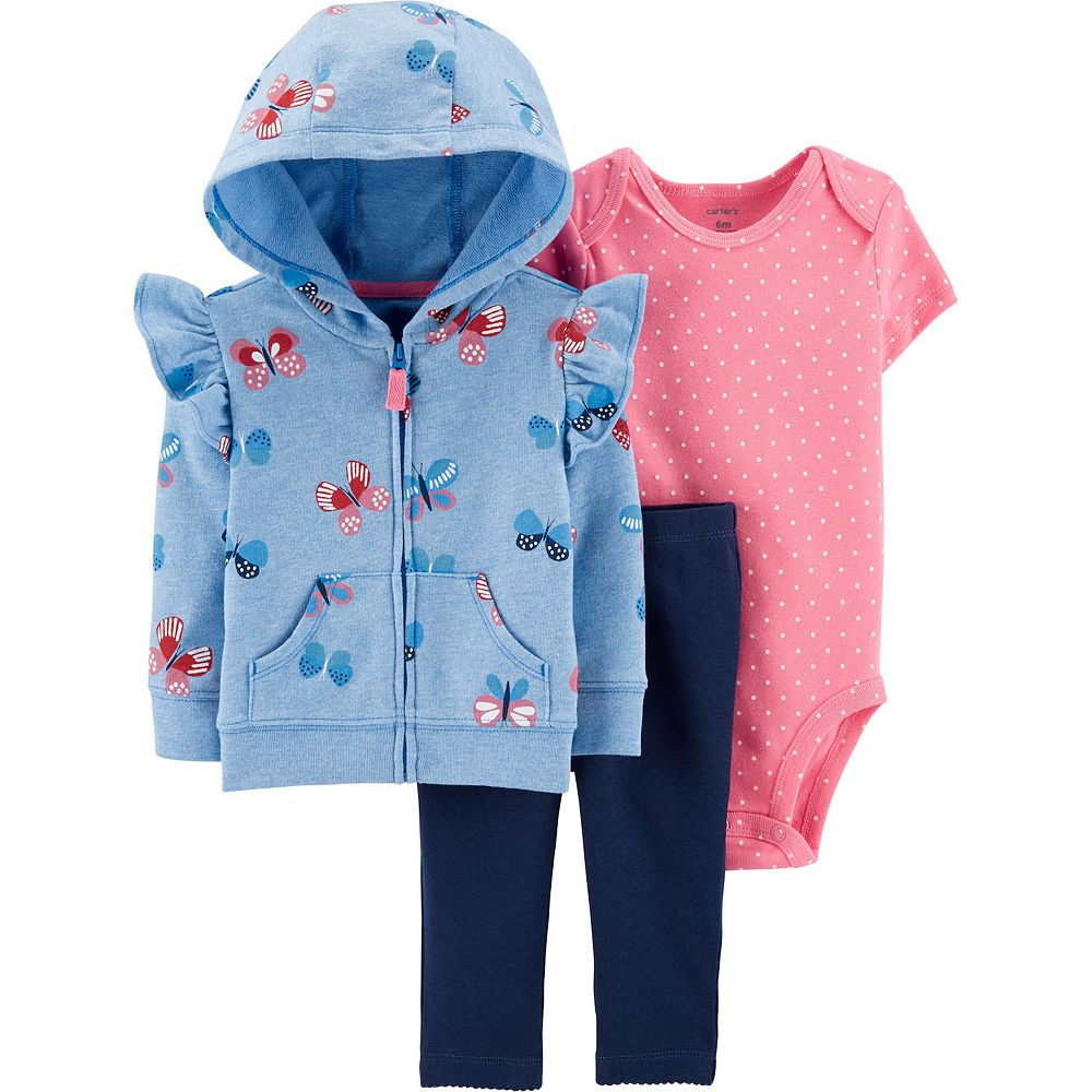 Baby Girl Carter's 3-Piece Floral Little Jacket Set