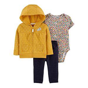Baby Girl Carter's 3-Piece Floral Little Jacket Set