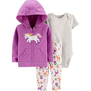 Baby Girl Carter's 3-Piece Unicorn Little Jacket Set