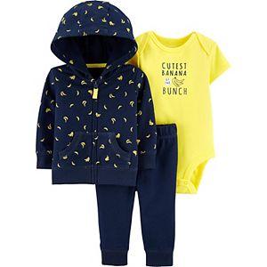 Baby Boy Carter's Banana Little Jacket, Bodysuit and Pants Set