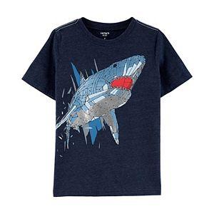 Boys 4-14 Carter's Pieced Shark Foiled Graphic Tee