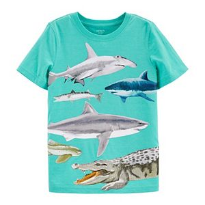 "Boys 4-14 Carter's Shark ""Explore Your World"" Front & Back Graphic Tee"