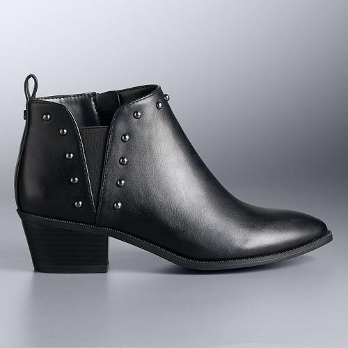 Simply Vera Vera Wang Fiorella Women's Ankle Boots