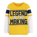 "Toddler Boy Carter's ""Legend In The Making"" Mock Layered Tee"