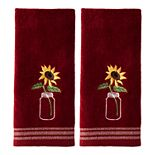Saturday Knight, Ltd. 2-pack Sunflower In Jar Hand Towel Set