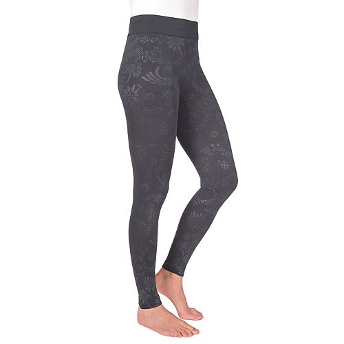 MUK LUKS® Women's Embossed Fleece-Lined Leggings