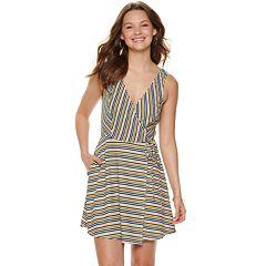 74312b51884 Juniors' Speechless Knit Skater Dress with Pockets