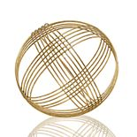 Scott Living Luxe Gold Finish Ball Sculpture Table Decor