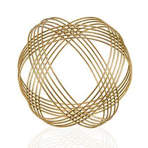Scott Living Luxe Gold Finish Ball Sculpture Table Decor