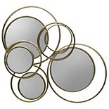 Scott Living Luxe Metallic Circles Mirror Wall Decor