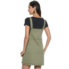 Juniors' SO Zip-front Cord Pinafore