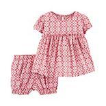 Baby Girl Carter's Ikat Viscose Top & Shorts Set
