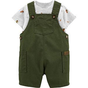 Baby Boy Carter's Animal Tee & Shortalls Set