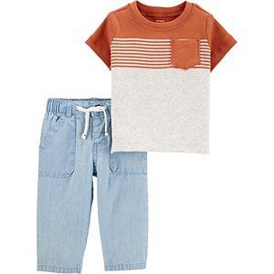Baby Boy Carter's Pocket Tee & Chambray Pants Set