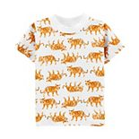 Baby Girl Carter's Tiger Tee & Twill Overalls Set
