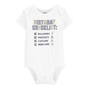 Baby Carter's Birthday Checklist Collectible Bodysuit