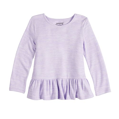 Toddler Girl Jumping Beans® Cozy Peplum-Hem Top