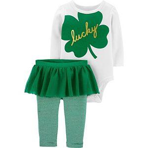 Baby Girl Carter's Lucky Bodysuit & Tutu Pant Set
