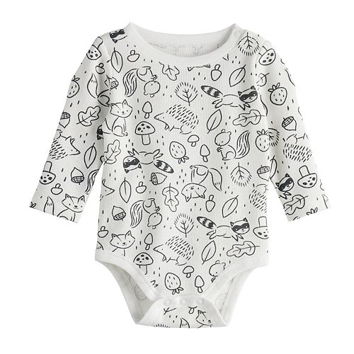 Baby Boy Jumping Beans® Long Sleeve Thermal Bodysuit
