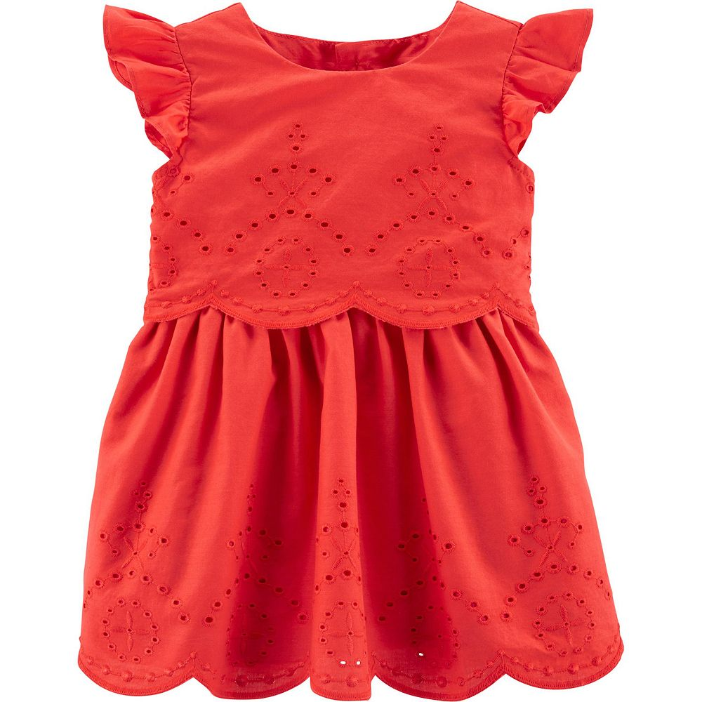 Baby Girl Carter's Flutter Eyelet Dress