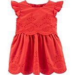 Baby Girl Carter's Flutter Eyelet Dress