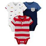 Baby Boy Carter's 3-Pack Short-Sleeve Bodysuits