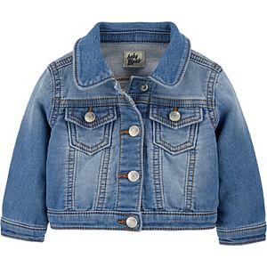Baby Girl OshKosh B'gosh® Knit Denim Jacket